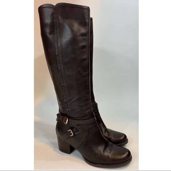 Tommy Hilfiger Gerdie tall brown leather boots 7.5